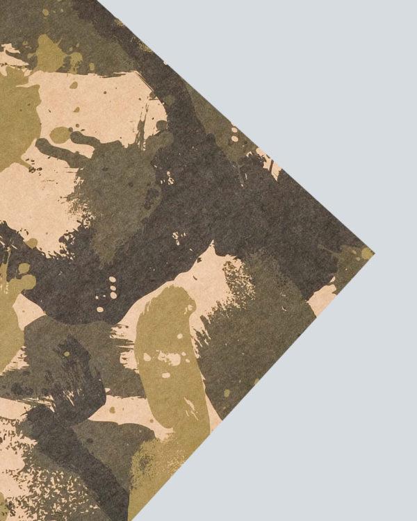 Бумага упаковочная крафтовая «Хаки»