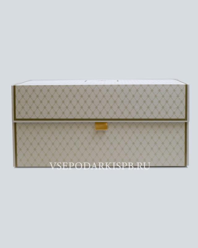Подарочная упаковка сервизная большая белая | Коробка под сервиз Купить подарки в СПБ