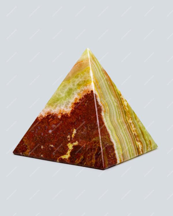 Часы настольные из оникса «Пирамида»