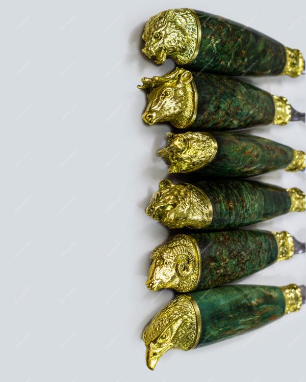 Набор шампуров в футляре «Презент»