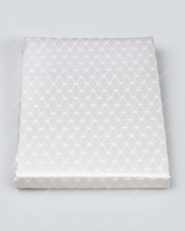 """Подарочный набор """"Скатерть прямоугольная 145*220 Кобальтовая сетка Белая"""